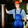 Blue collar — Stock Photo