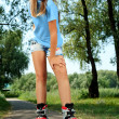 Roller girl — Stock Photo #12196440