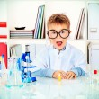 Laboratory boy — Stock Photo