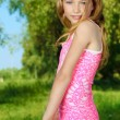pink dress — Stock Photo