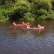 Rowers on river — Stock Photo #10808722