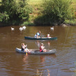 Rowers on river — Stock Photo #10808803