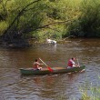 Rowers on river — Stock Photo #10808833