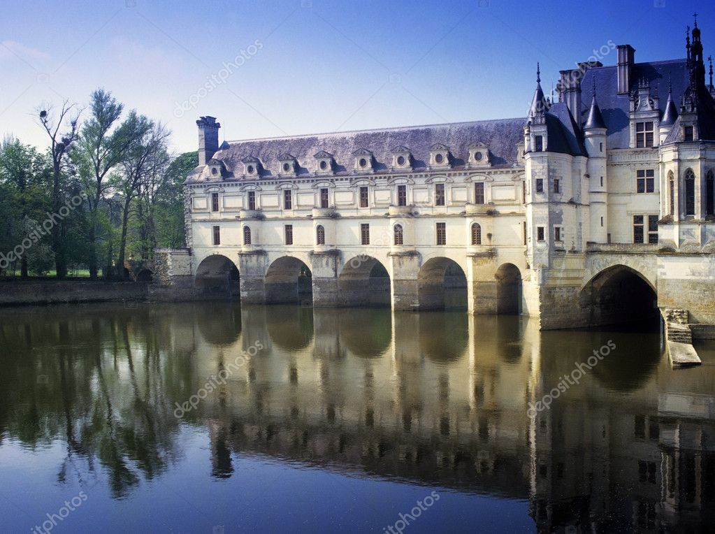 Chateau chenonceau loire valley france europe  Foto Stock #10808501