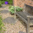 Bench garden — Stock Photo #11093342