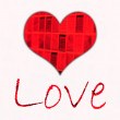 Foto Stock: Love and Red Heart background
