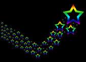 An abstract rainbow star illustration — Stock Photo
