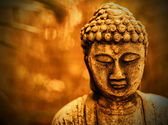 Buddha in sepia — Stock Photo