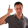 Shaking finger in disapproval — Stock Photo