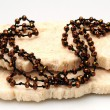 Brown beaded necklace — Stock fotografie #10909029
