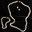 Stock Photo: Pearl Jewelry set