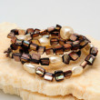 Stock Photo: Brown Beads and Pearl bracelets