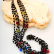Beautiful multicolored fashionable necklace — Stock Photo