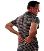 Lower back pain — Stock Photo