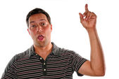 Man expressing his opinion — Stock Photo