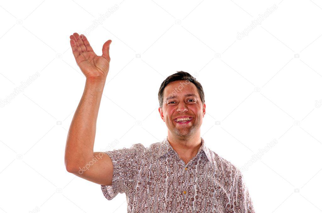 человек машет рукой картинки