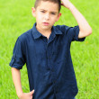 Confused kid — Stock Photo