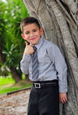 Thumbs up child — Stock Photo