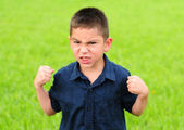 Angry young boy — Stock Photo