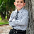 Happy Young boy in business attire — Stock Photo