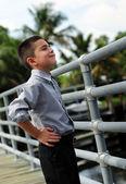 Young boy smiriking — Stock Photo