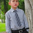 Serious attractive young boy — Stock Photo