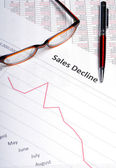 Sales Decline — Stock Photo