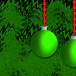 Green and red winter holiday background — Foto de stock #11500555