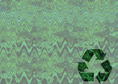 Fundo verde com símbolo de reciclagem — Foto Stock