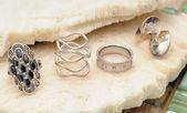 Jewelry fashion rings — Stock Photo