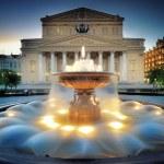 Moscow, Fountain near the Bolshoi theater. — Stock Photo #10772007