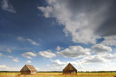 Two barn in the field — Stock Photo