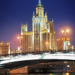 Moscow. Stalin skyscraper on Kotelnicheskayembankment — Stock Photo #10826870