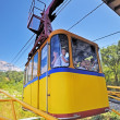 The funicular lifts to AI-Petri mountain. - Stock Photo