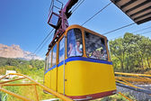 The funicular lifts to AI-Petri mountain. — Stock Photo