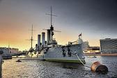 Linear cruiser Aurora — Stock Photo