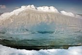 Break the ice floes, close-up — Stock Photo