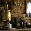 Stock Photo: Country Still Life with Samovar.