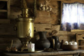 Country Still Life with a Samovar. — Stock Photo