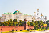 View of the Grand Kremlin Palace and the Ivan the Great Bell. Moscow. — Stock Photo