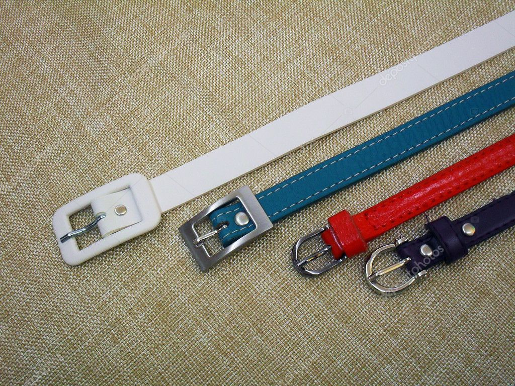 Color female belts — Stock Photo #10995460