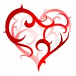 Artistic heart-shape - Stock Vector