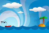 Cartoon tropics — Vector de stock