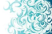 液体の水の飾り — ストックベクタ