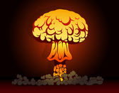 Nuclear bomb explosion — Stock Vector