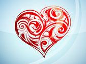 Saint Valentine's Day heart-shape — Stock Vector