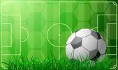 Soccer theme — Stock Vector