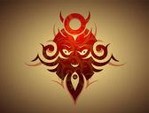Decoratieve kwaad masker — Stockvector