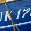 Stock Photo: Name of boat UK 176