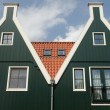 Two houses in Volendam - Stock Photo